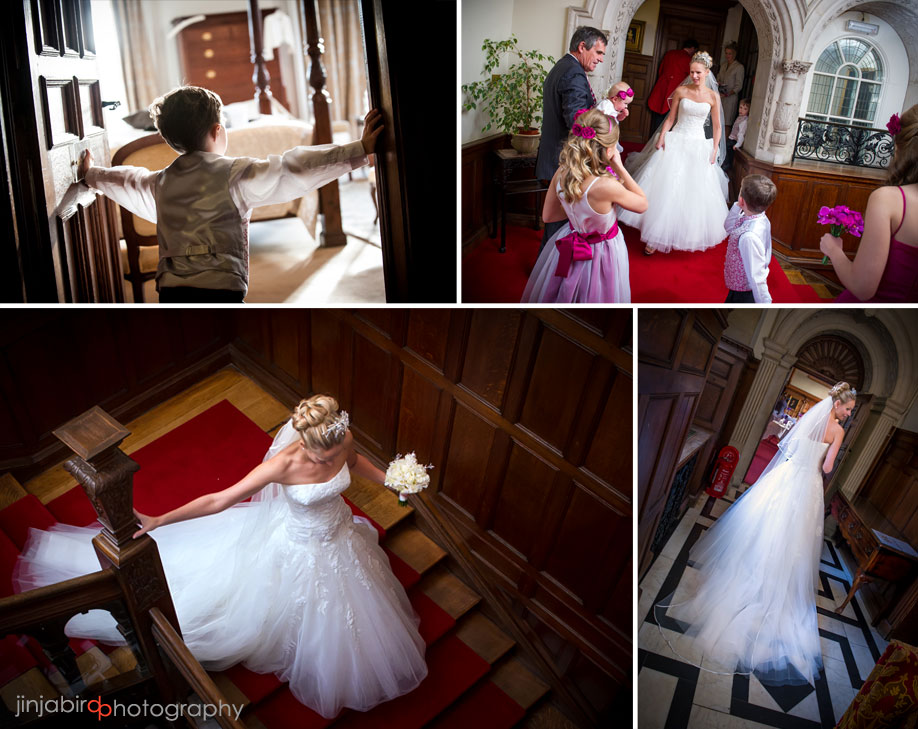 bride_on_stairs_rushton_hall