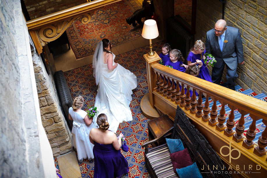 wedding_photo_on_staircase_swan_hotel_bedford