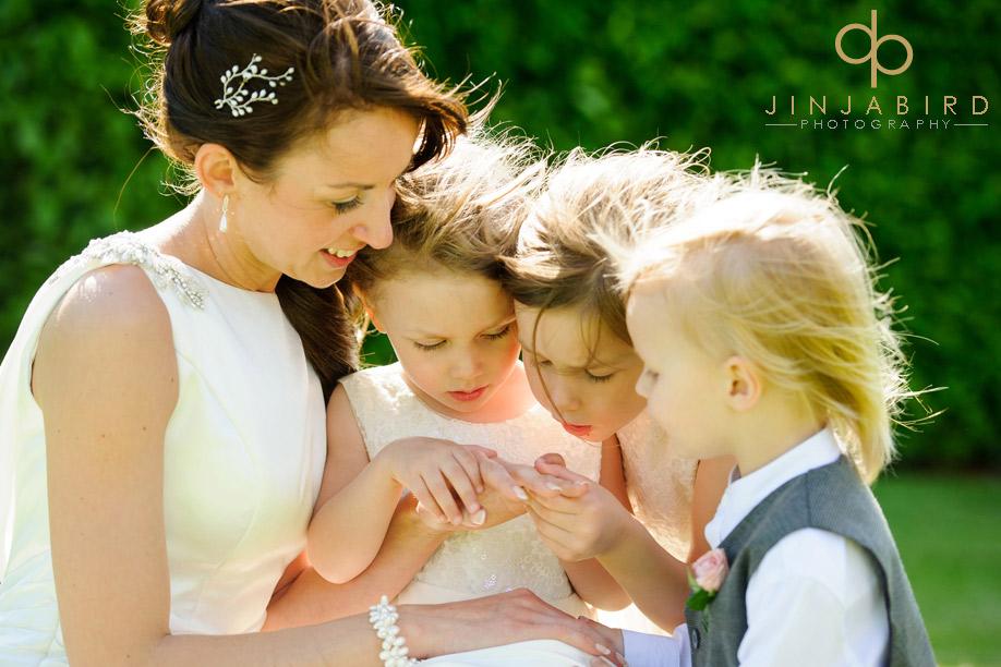 bride_with_children_fawsley_hall