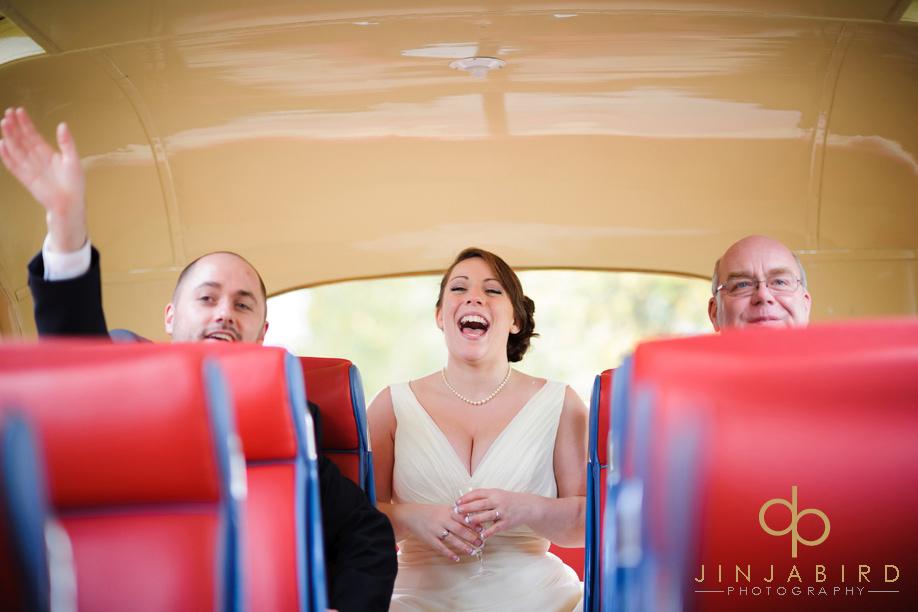 bride_on_wedding_bus_sharnbrook_mill
