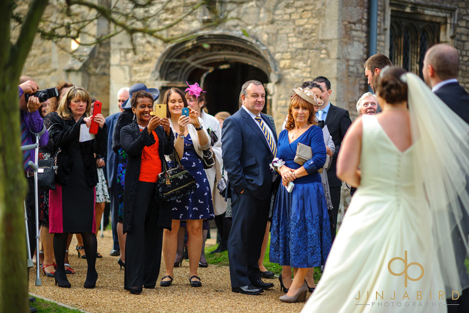 st_lawrences_church_willington_just_married