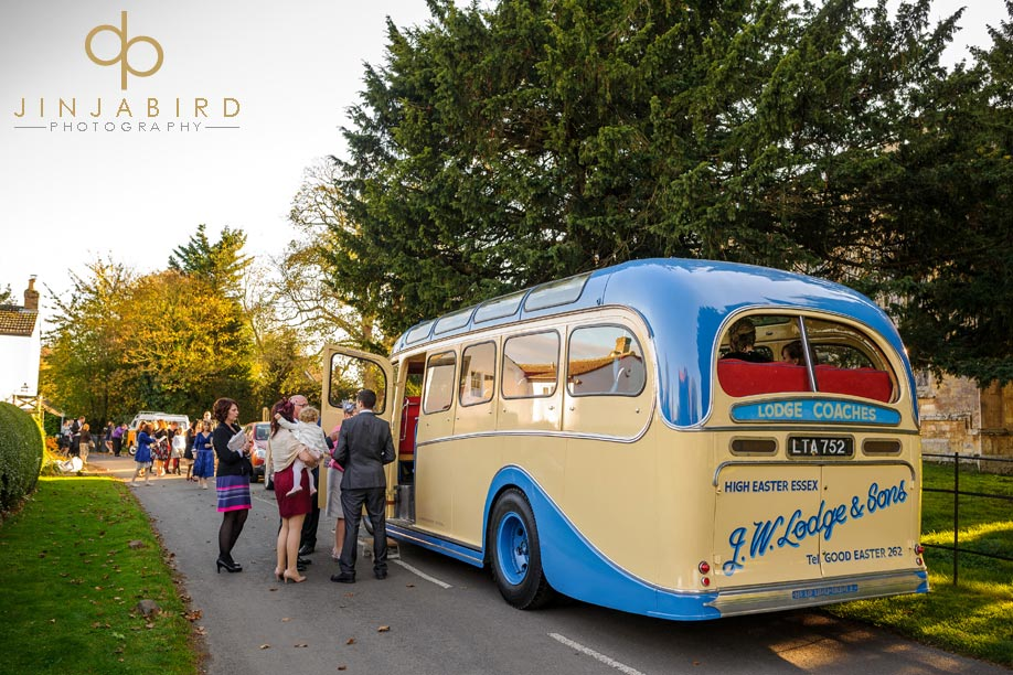 st_lawrences_church_willington_wedding_coach