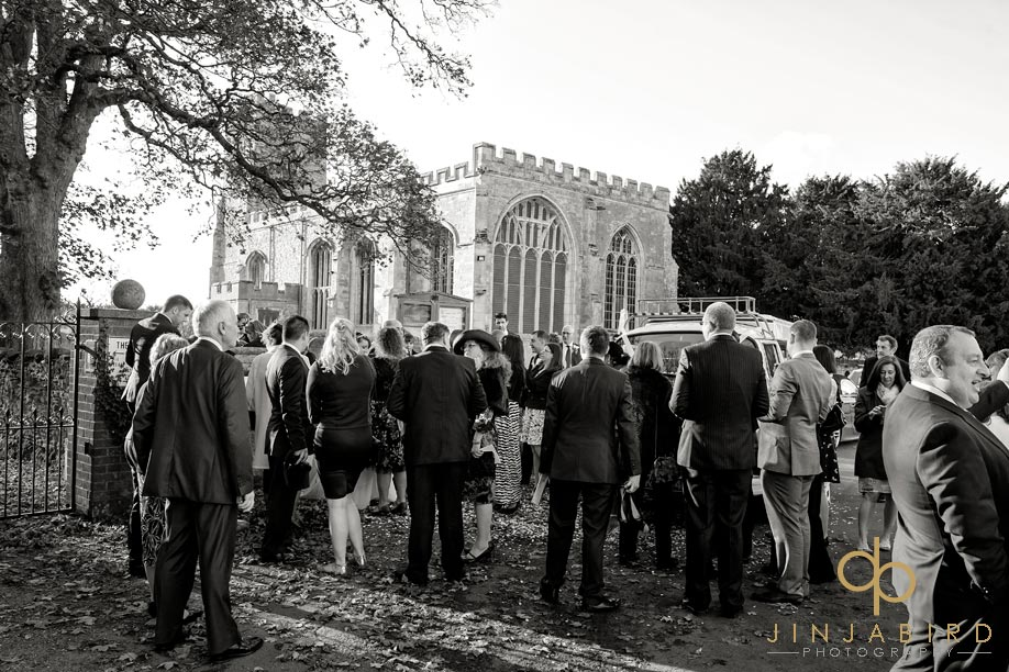 st_lawrences_church_willington_wedding_guests