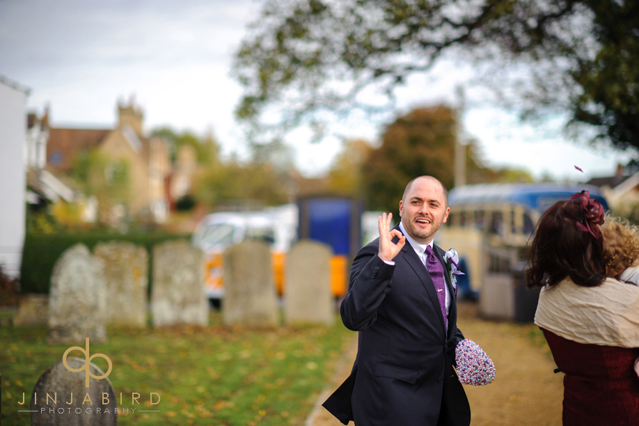 wedding_photographer_groom_st_lawrences_church_willington
