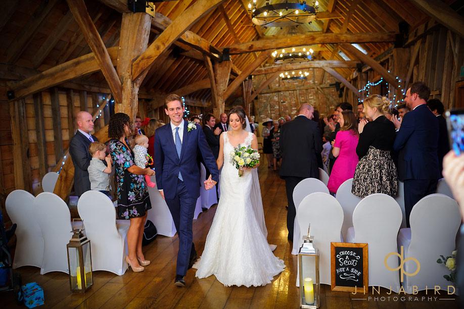 bassmead_manor_barns_wedding_procesion
