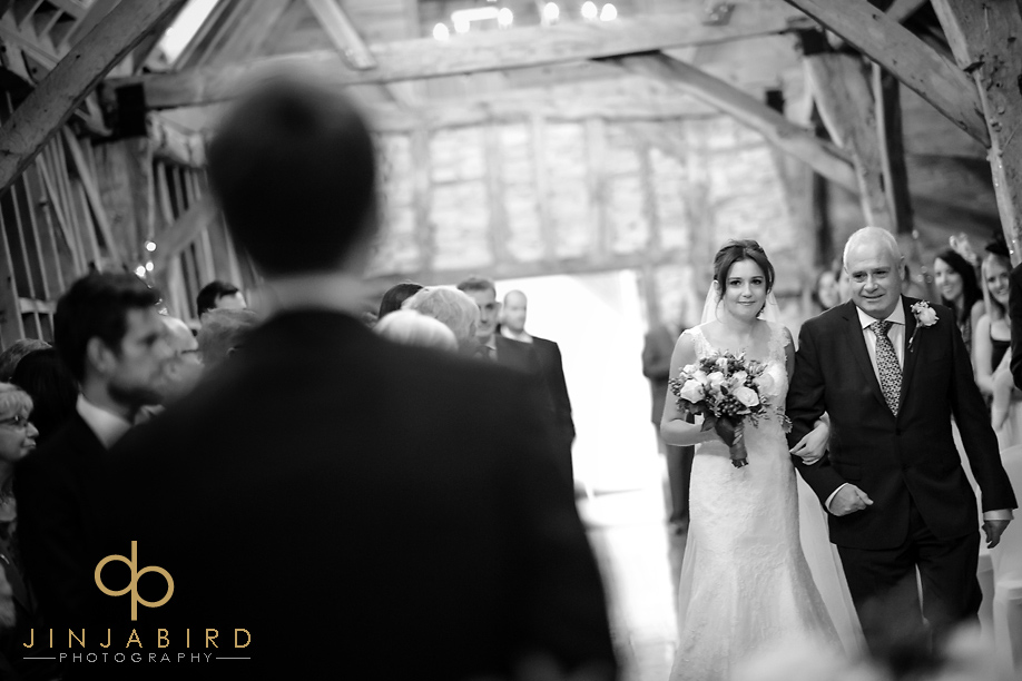 bride_processing_bassmead_manor_barns