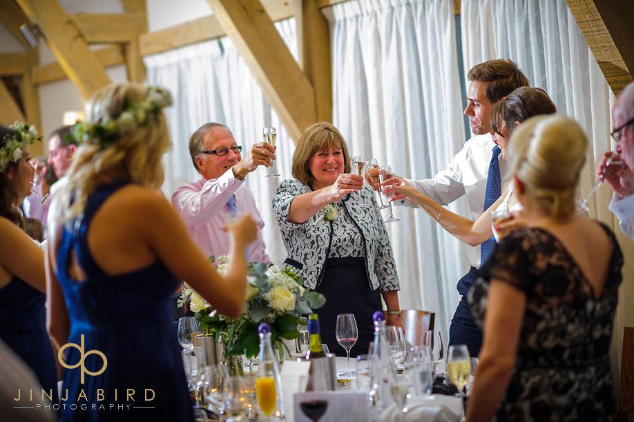 wedding_toast_bassmead_manor_barns