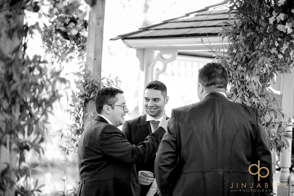 groom-with-bestmen-minstrel-court