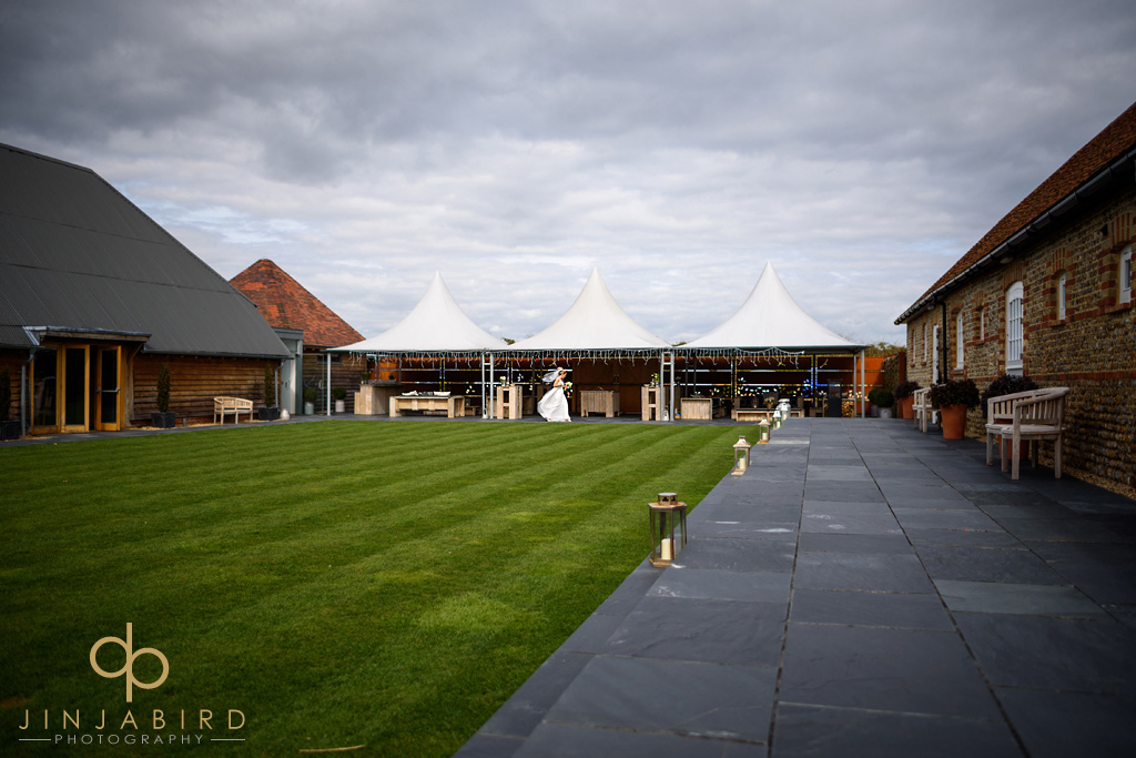 bride-and-father-southend-barns