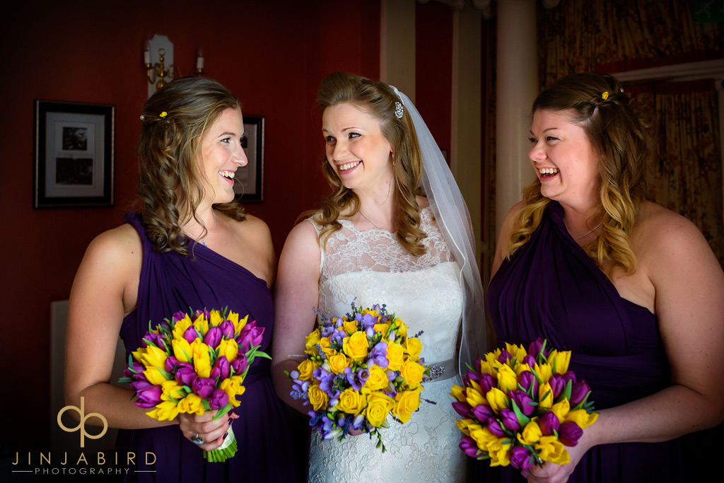 bride-with-bridesmaids-hitchin-priory