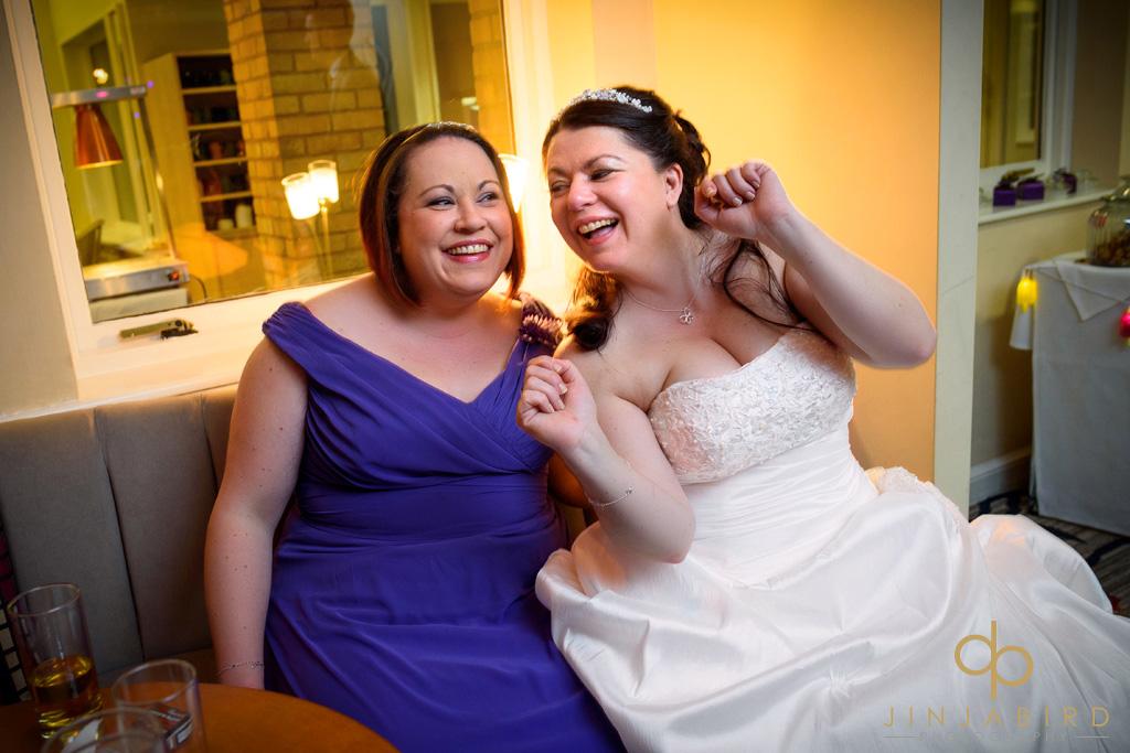 bride-with-sister-wyboston-lakes