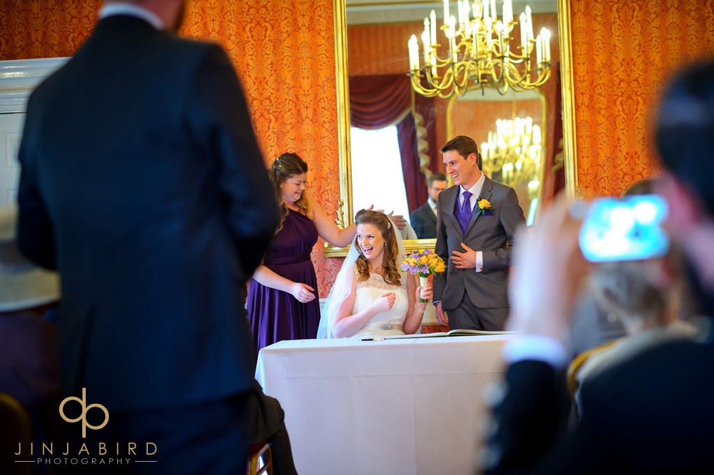 just-married-hitchin-priory
