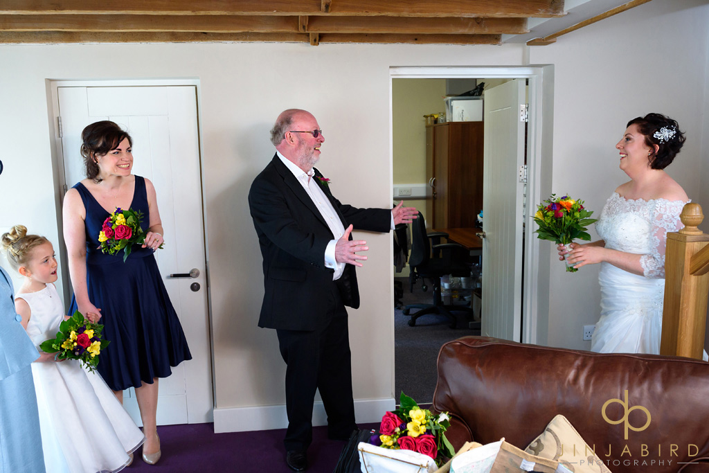 father-sees-bride-bassmead-manor-barns