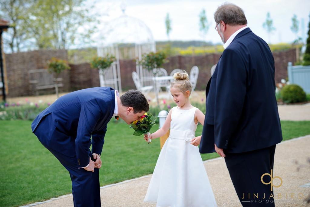 groom-and-flower-girl-bassmead-manor-barns