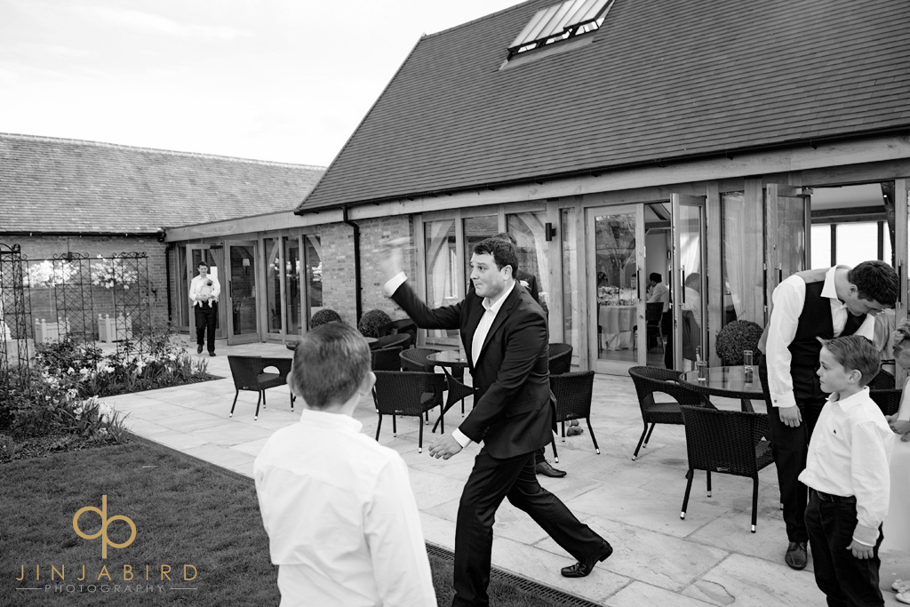 wedding-guests-playing-bassmead-manor-barns