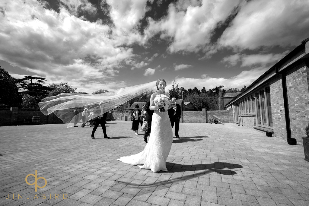 bride-at-bassmead-manor-barns