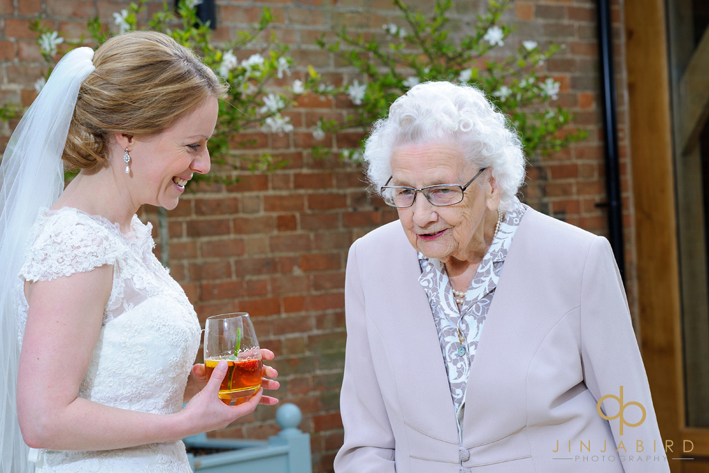 bride-with-grandmother-bassmead-manor-barns