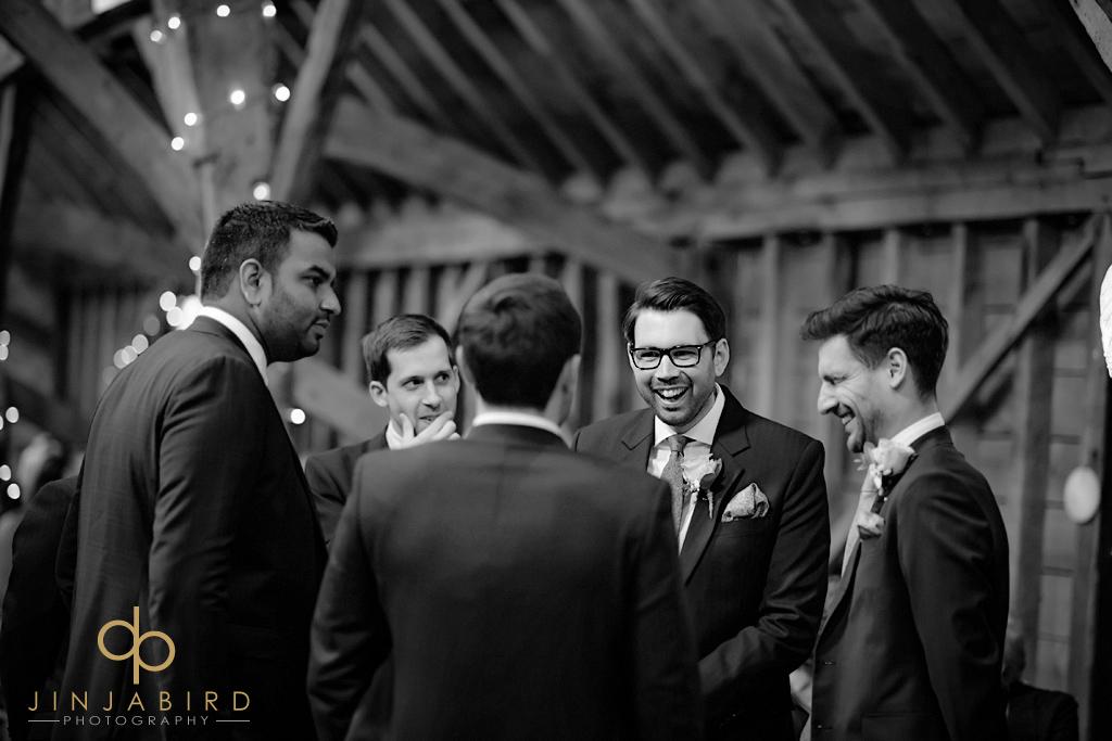 groom-with-groomsmen-bassmead-manor-barns