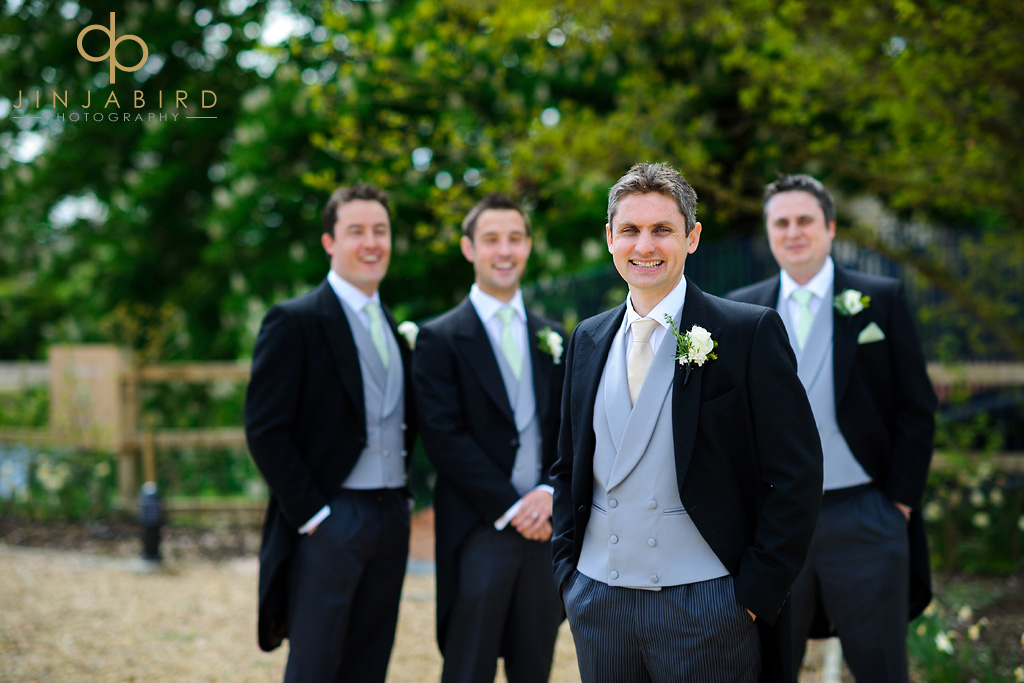 groom-with-ushers-at-bassmead-manor-barns