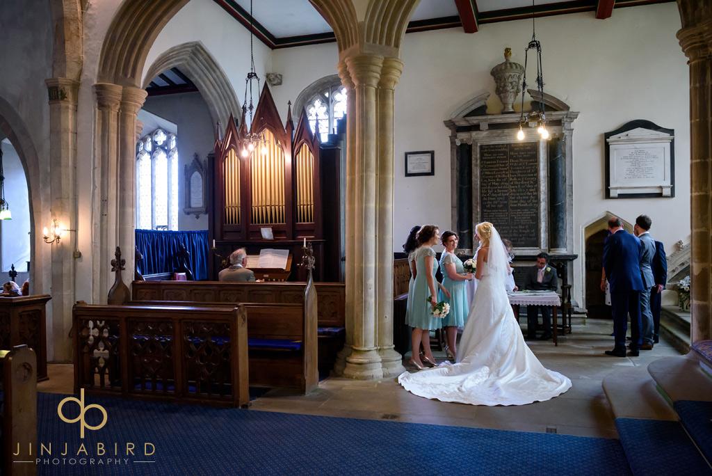 bride-and-bridesmaids-stoke-rochford-church