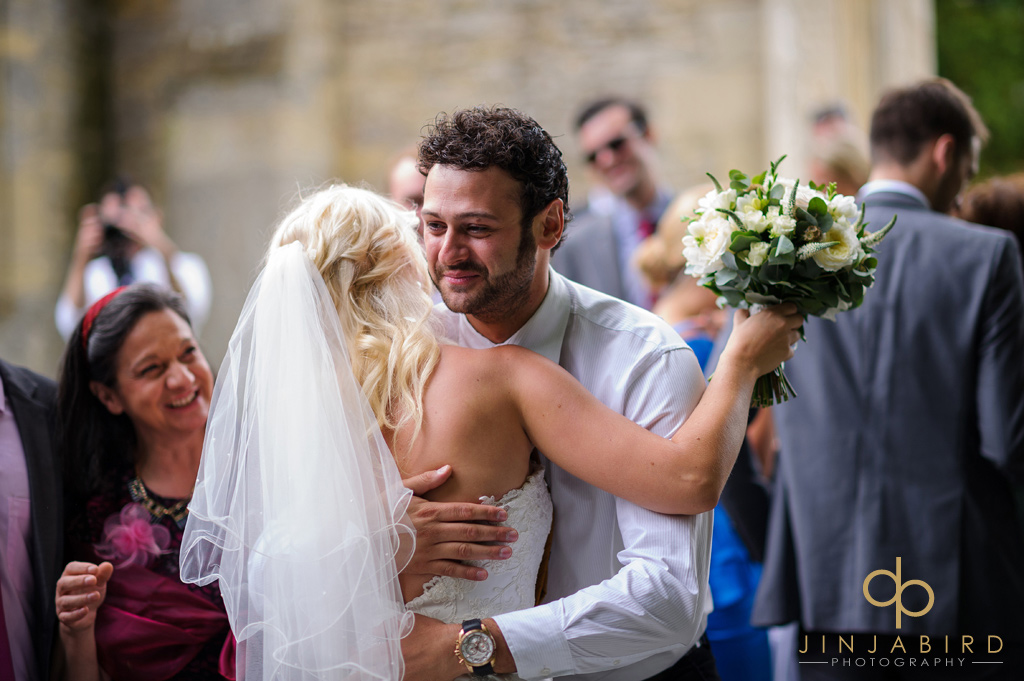 just-married-stoke-rochford-church