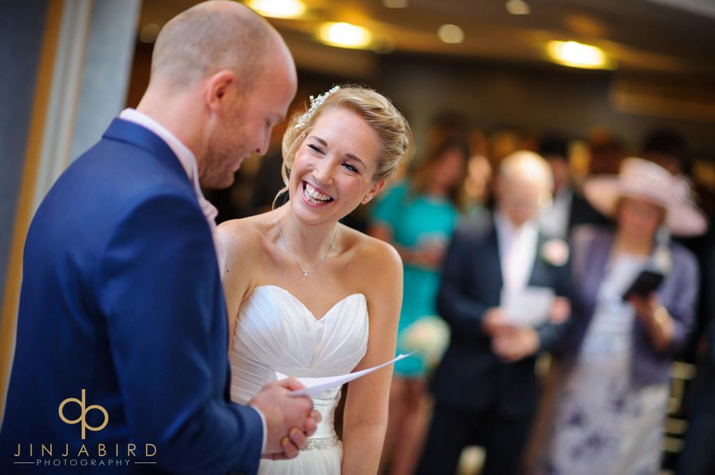 bride-laughing-bull-hotel-gerrards-cross