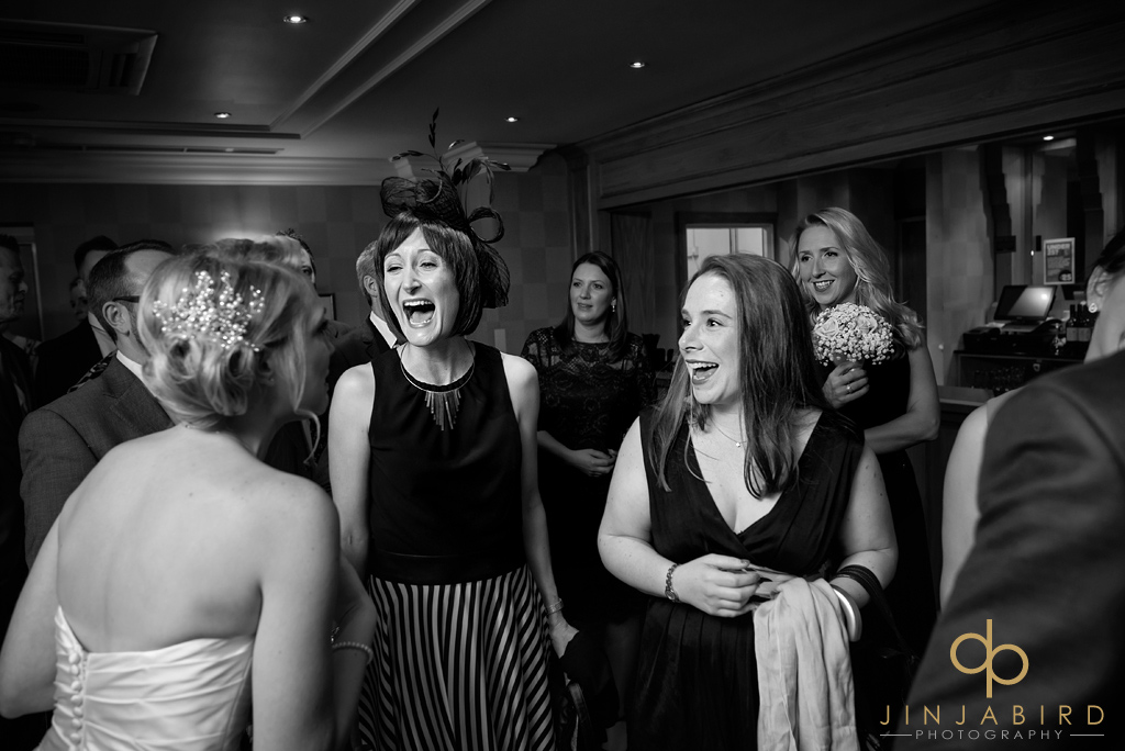 bride-with-friends-bull-hotel-gerrards-cross
