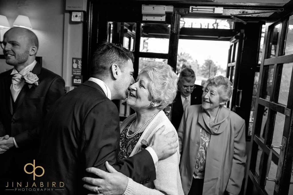 bull-hotel-gerrards-cross-wedding-guest-arriving