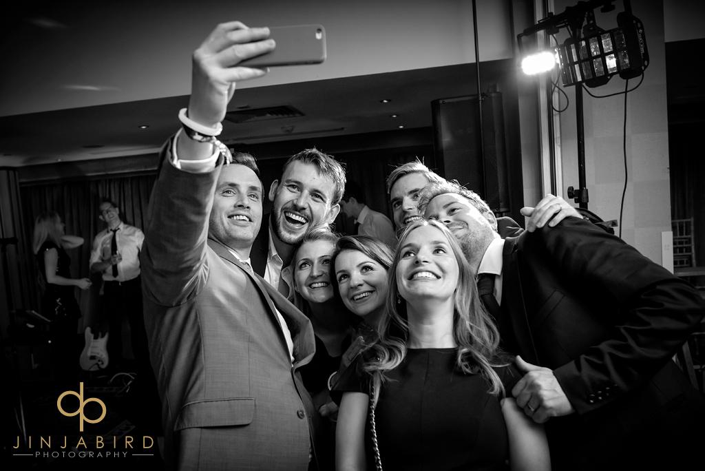 bull-hotel-gerrards-cross-wedding-guests-selfie