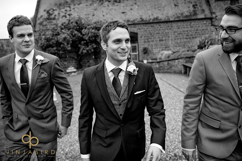 groom-with-ushers-hunsburry-hill-centre-northampton