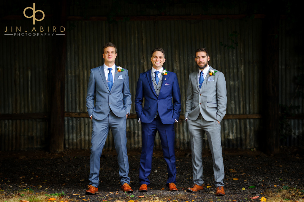groom-with-ushers-hunsburry-hill-centre