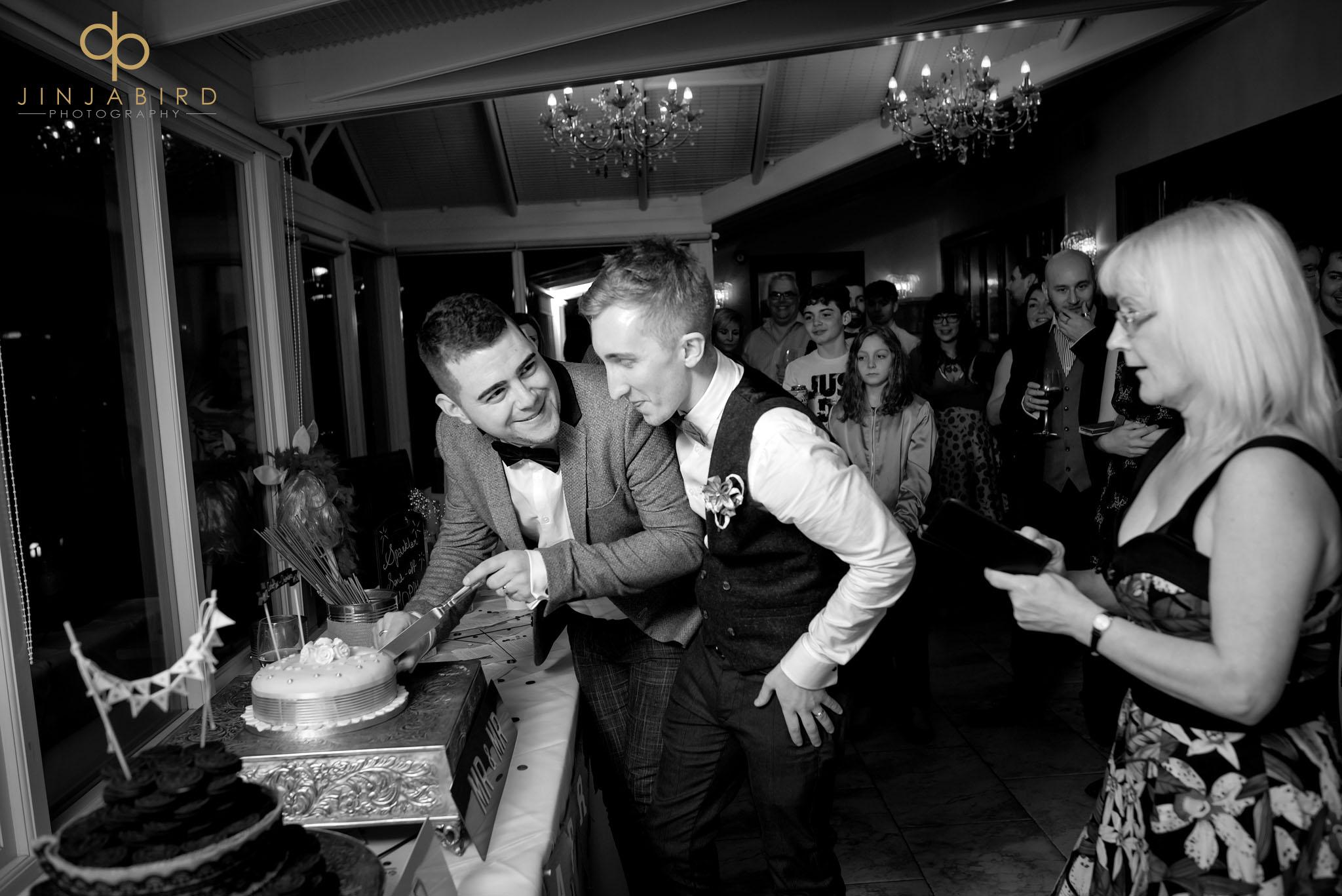 cutting wedding cake normanton park hotel