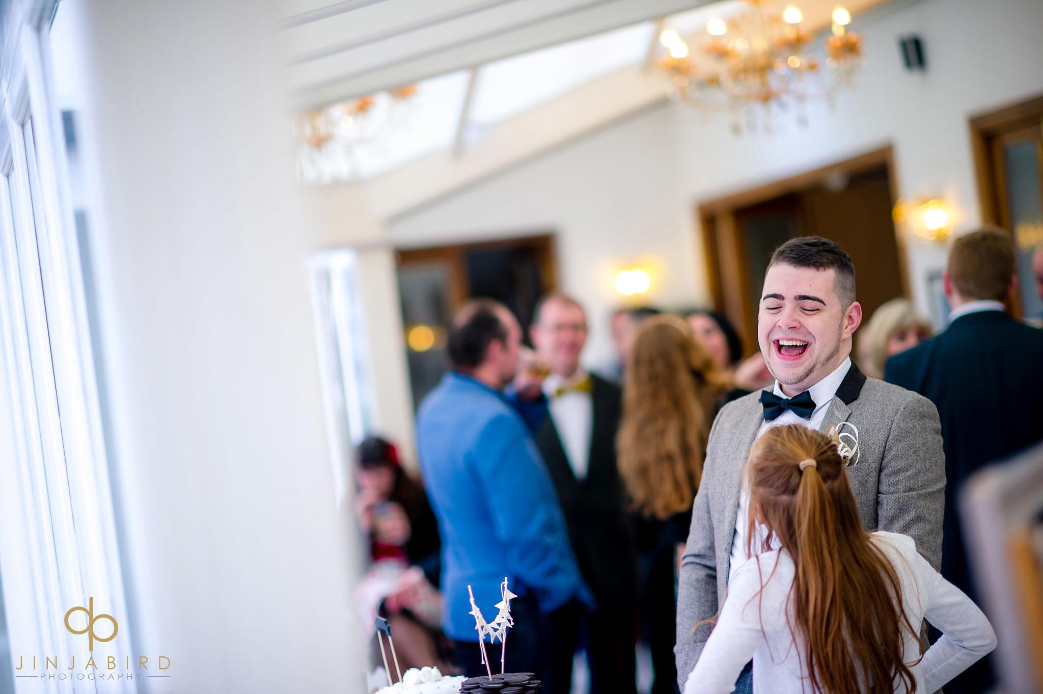 groom at normanton park hotel