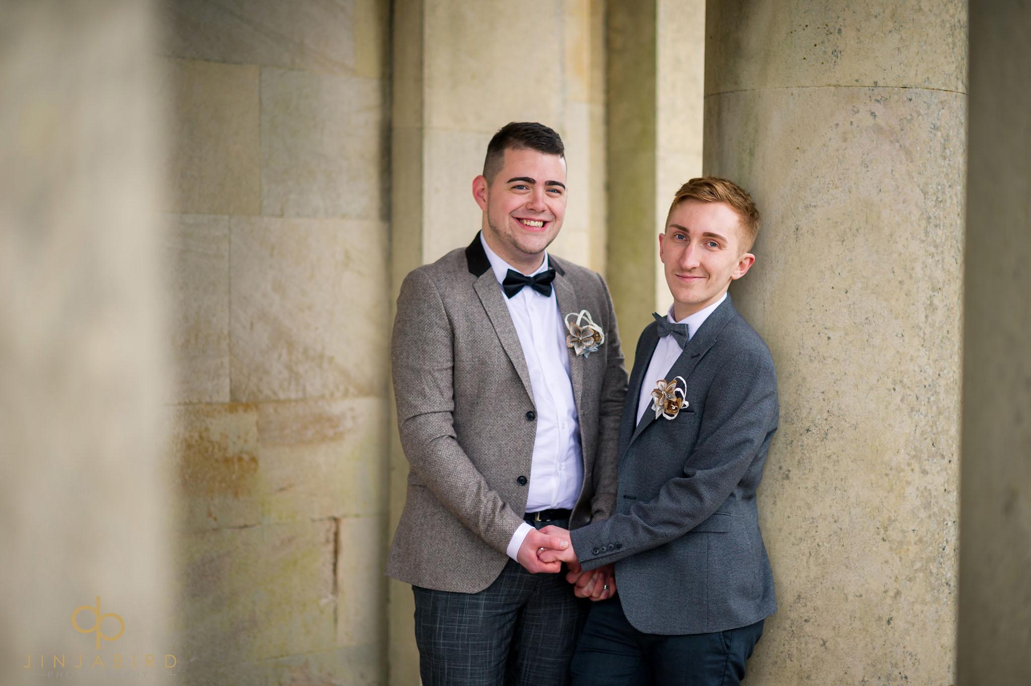 normanton church gay wedding photo