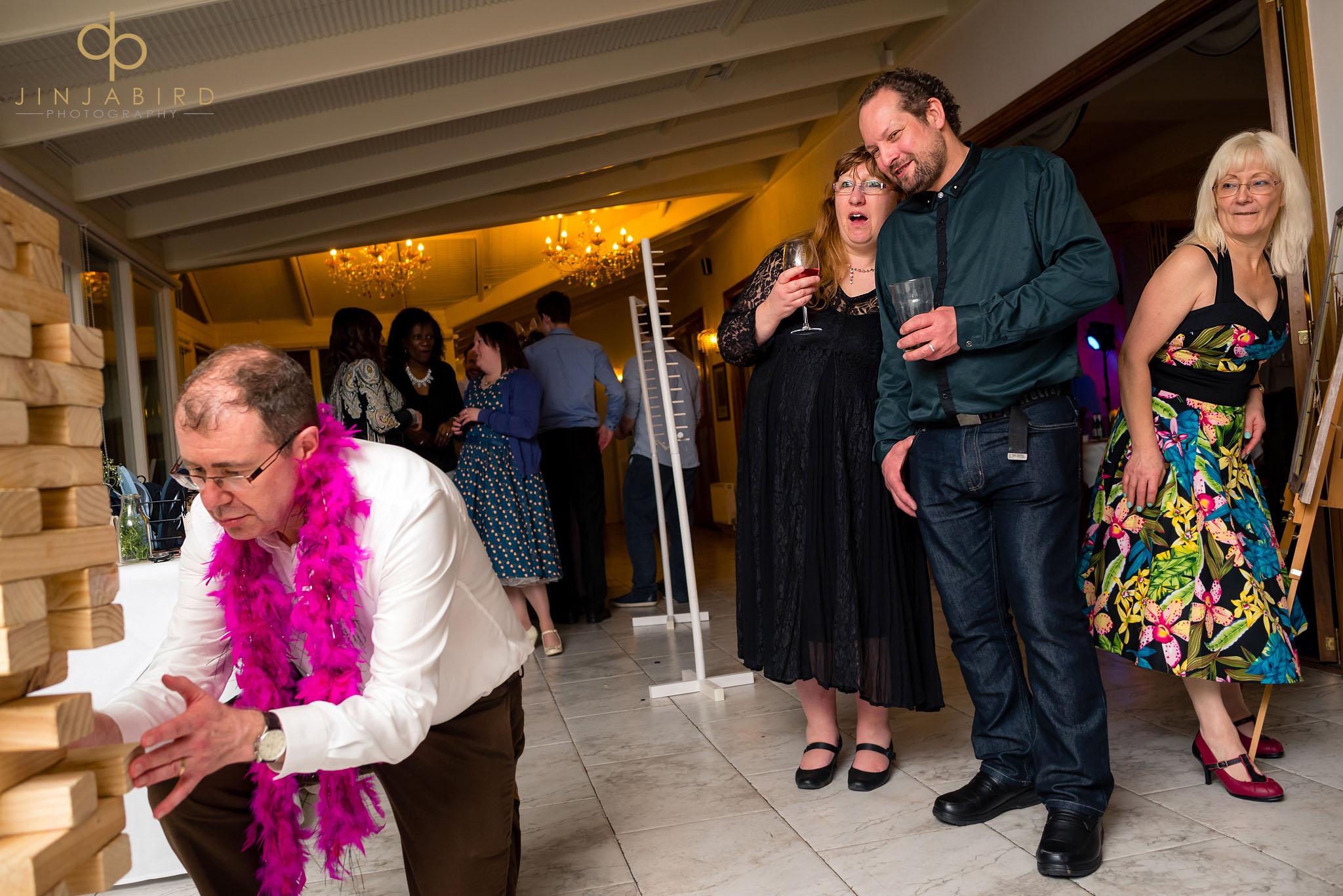 normanton park hotel wedding jenga