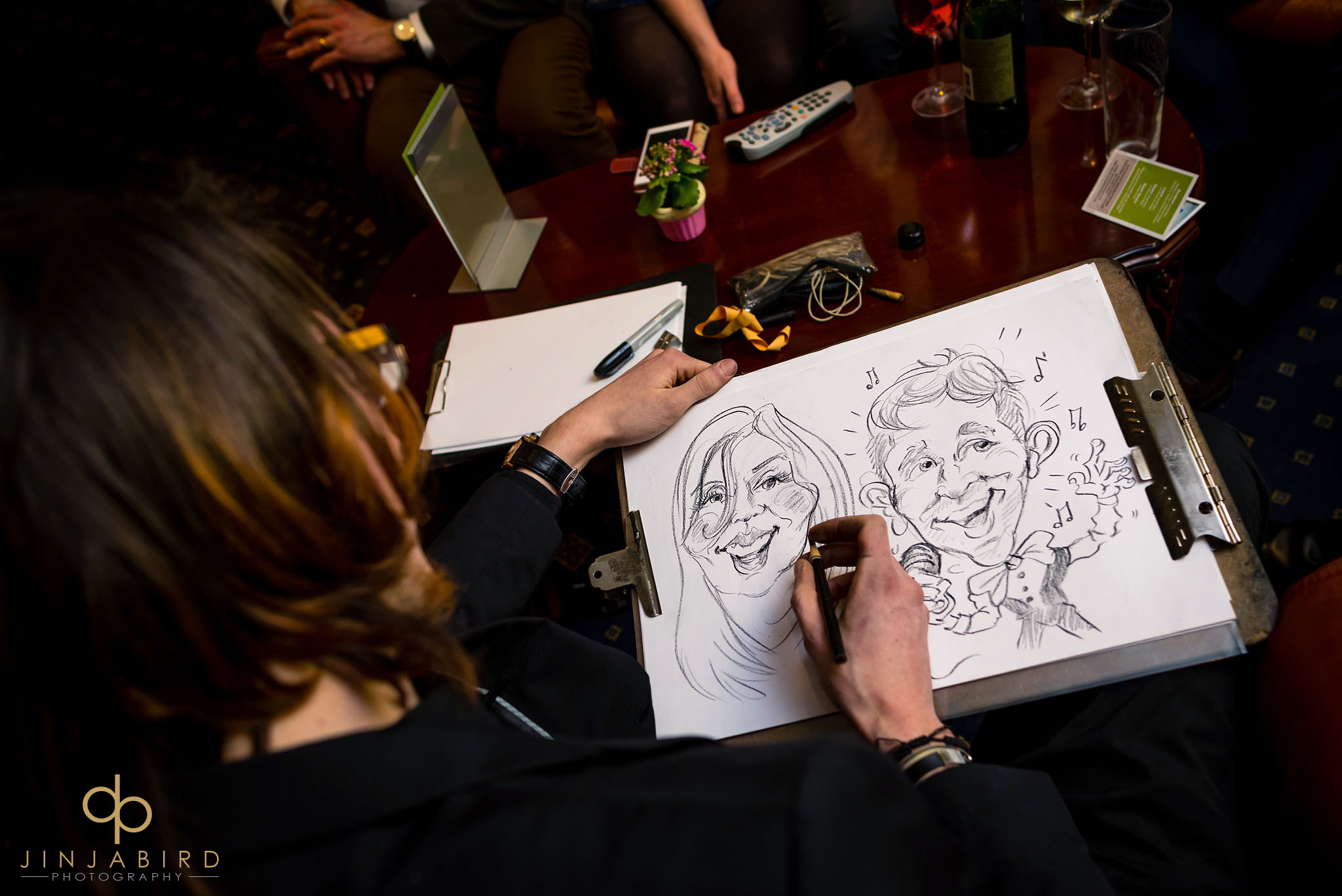 wedding caricature artist normanton park hotel