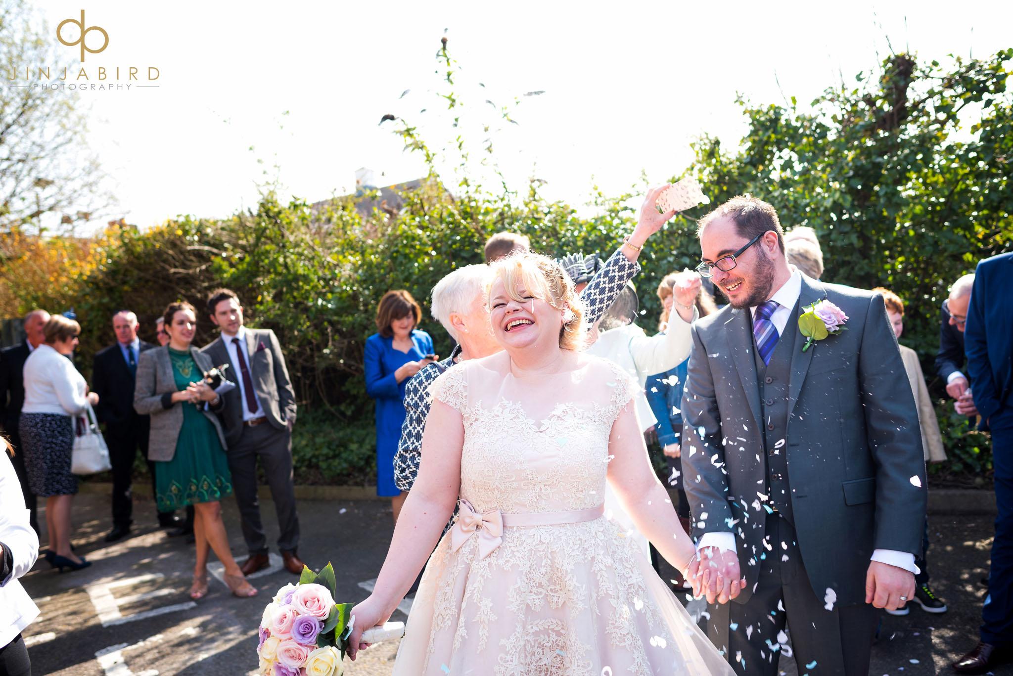 wedding confetti woburn safari lodge