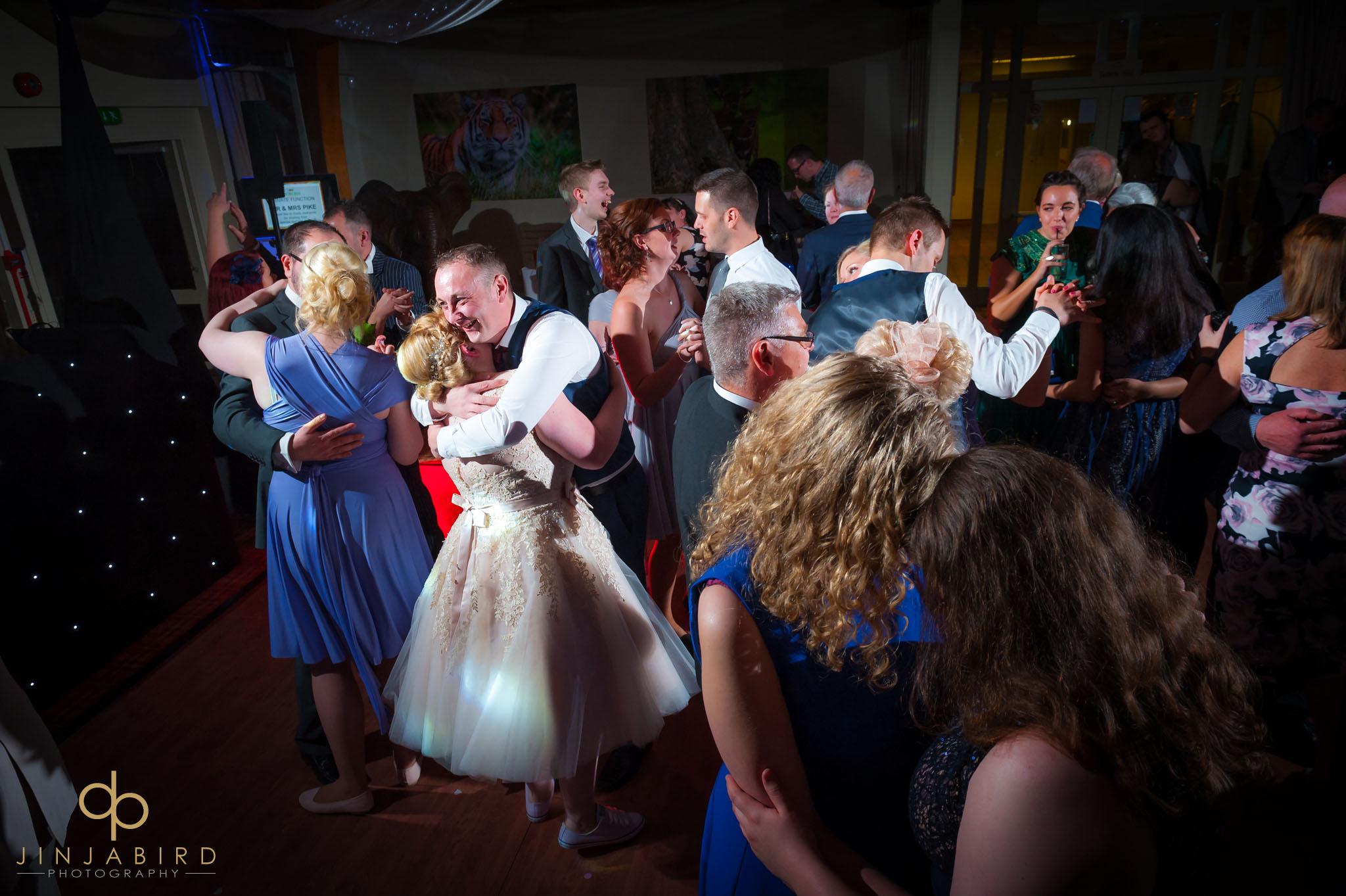 wedding guests dancing woburn safari lodge
