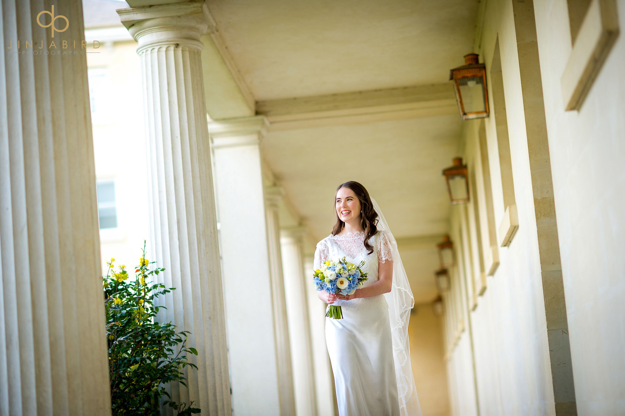 bride walking downing college