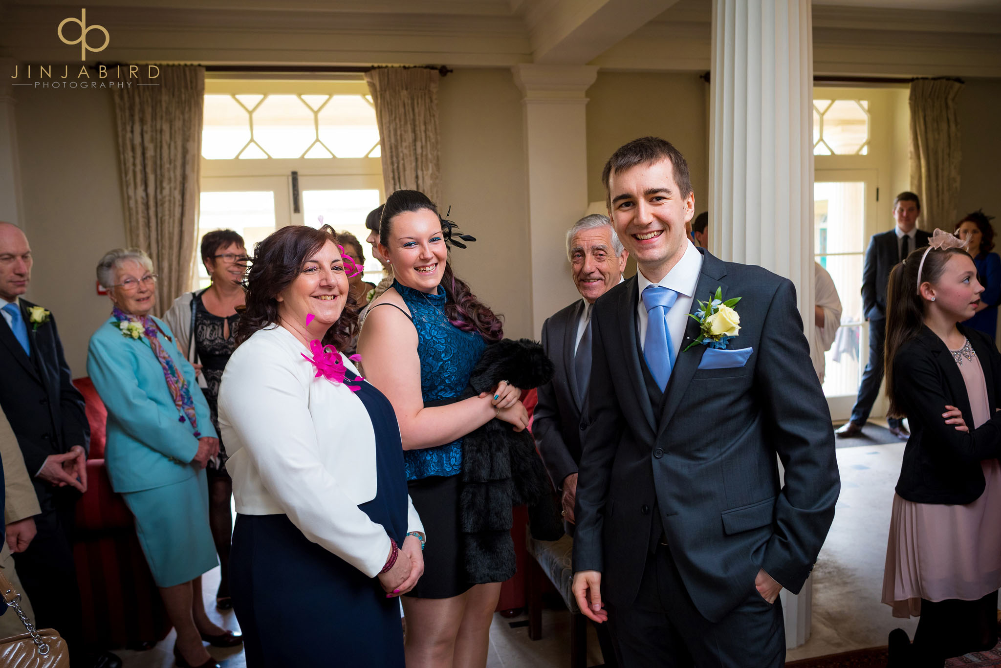 wedding guests downing college
