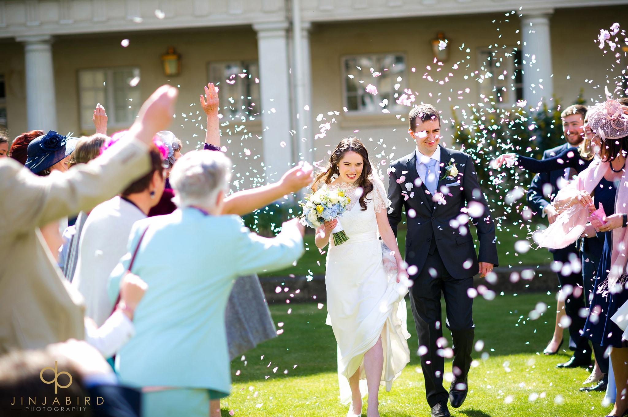 downing college wedding confetti