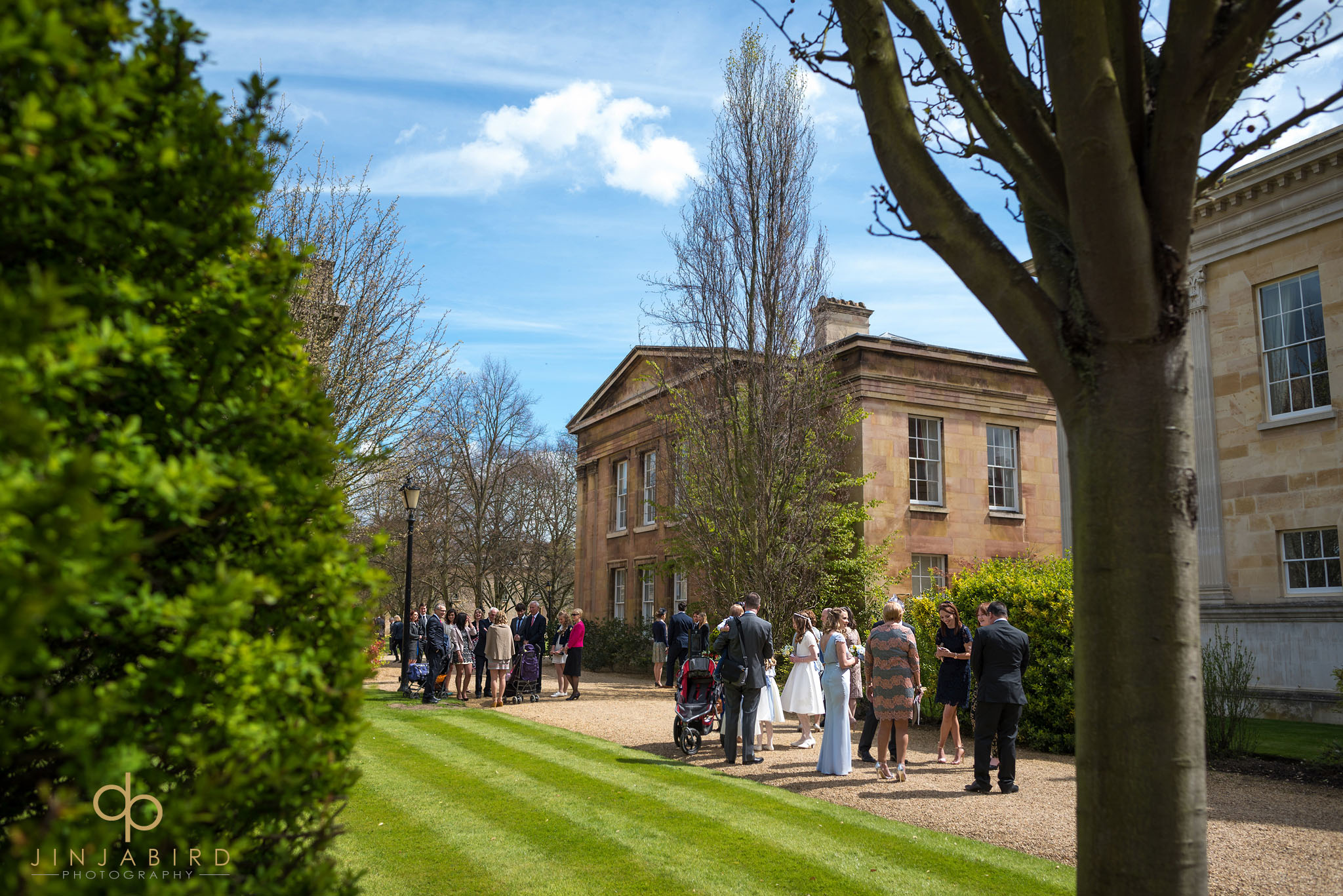 downing college wedding photo