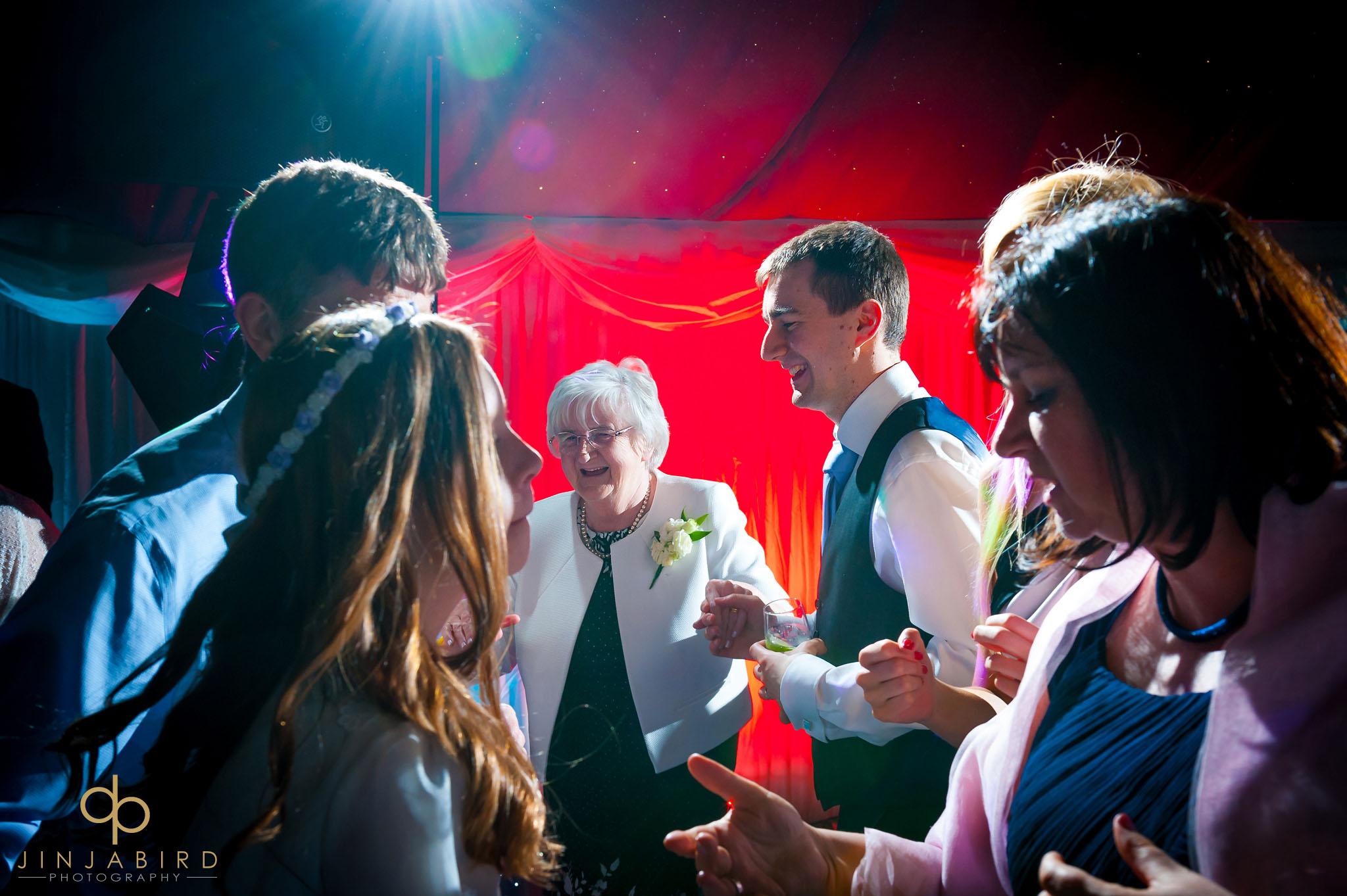 evening wedding reception rectory farm cambridge