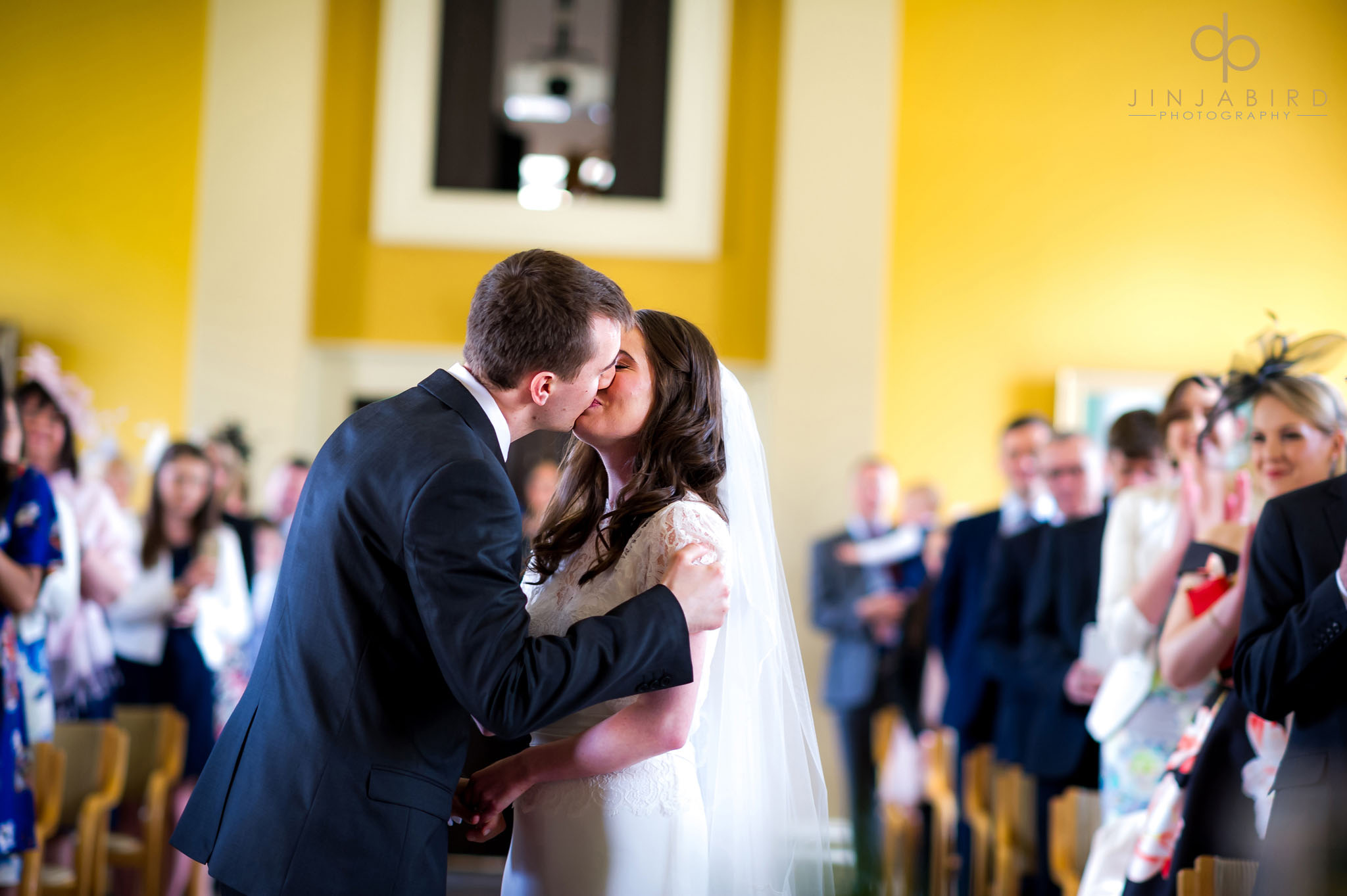 first kiss wedding photographer downing college