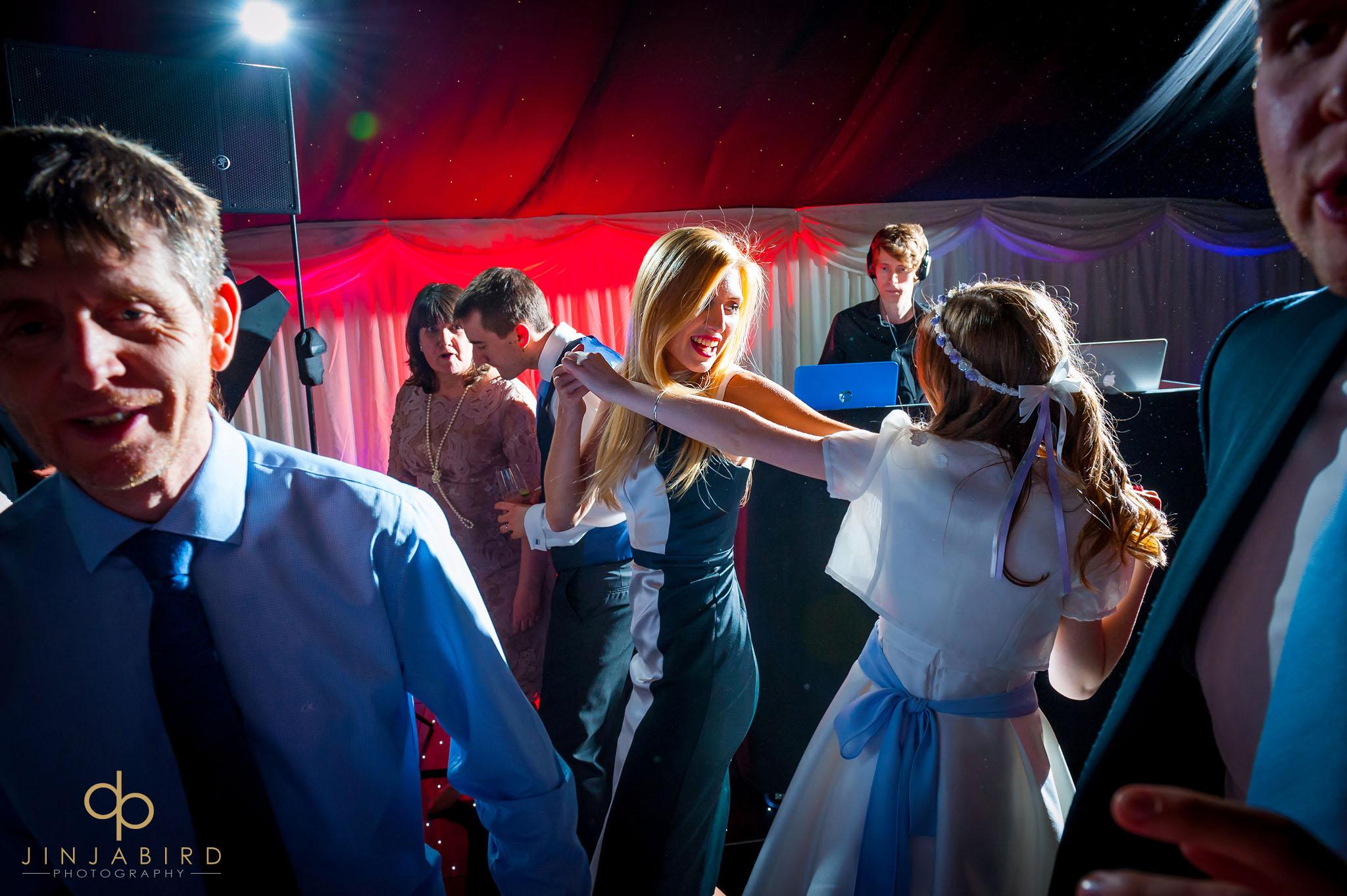 wedding guests dancing rectory farm cambridge