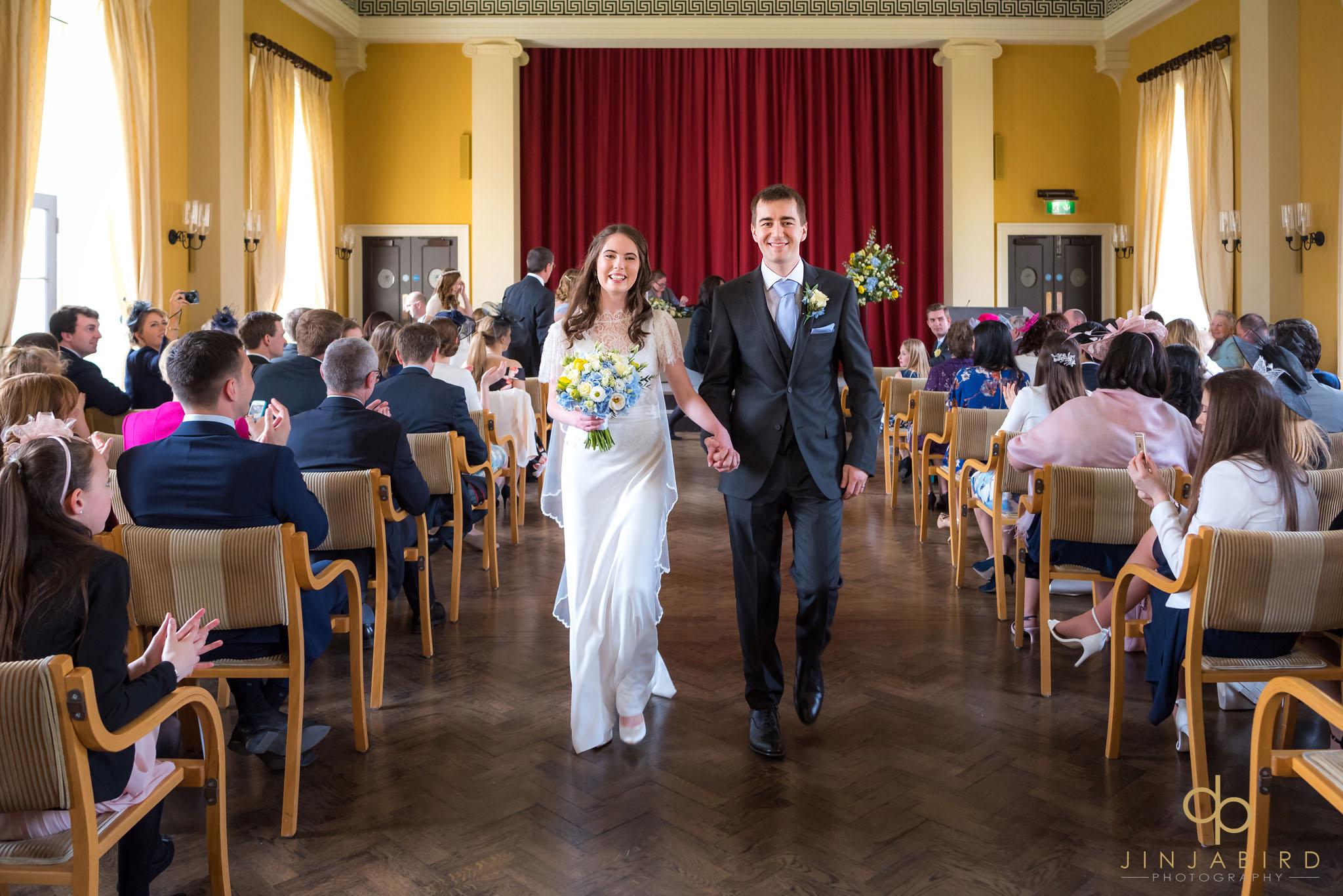 Wedding photographer downing college j i n j a b i r d wedding procession downing college wedding junglespirit Images