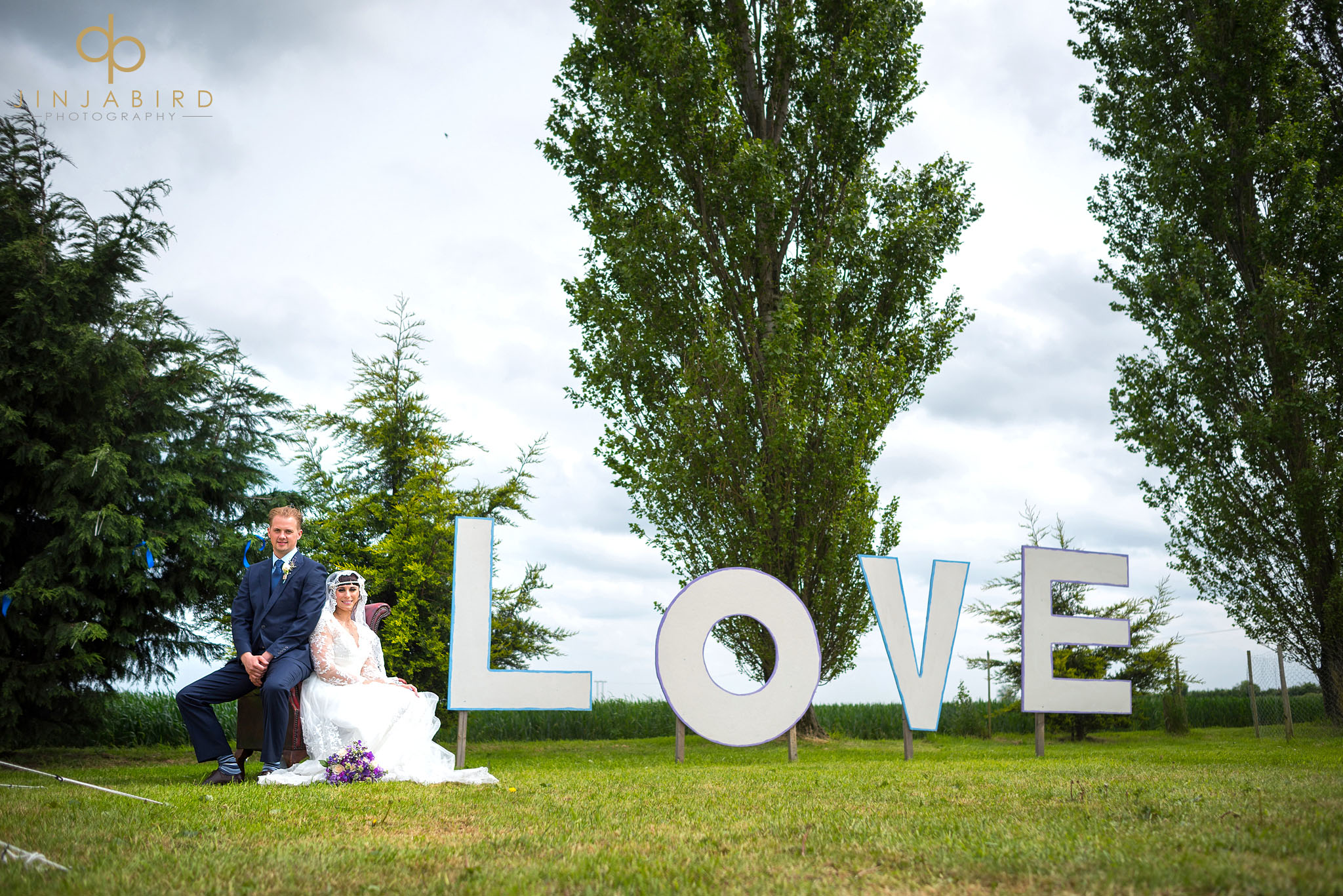 bride groom love sign