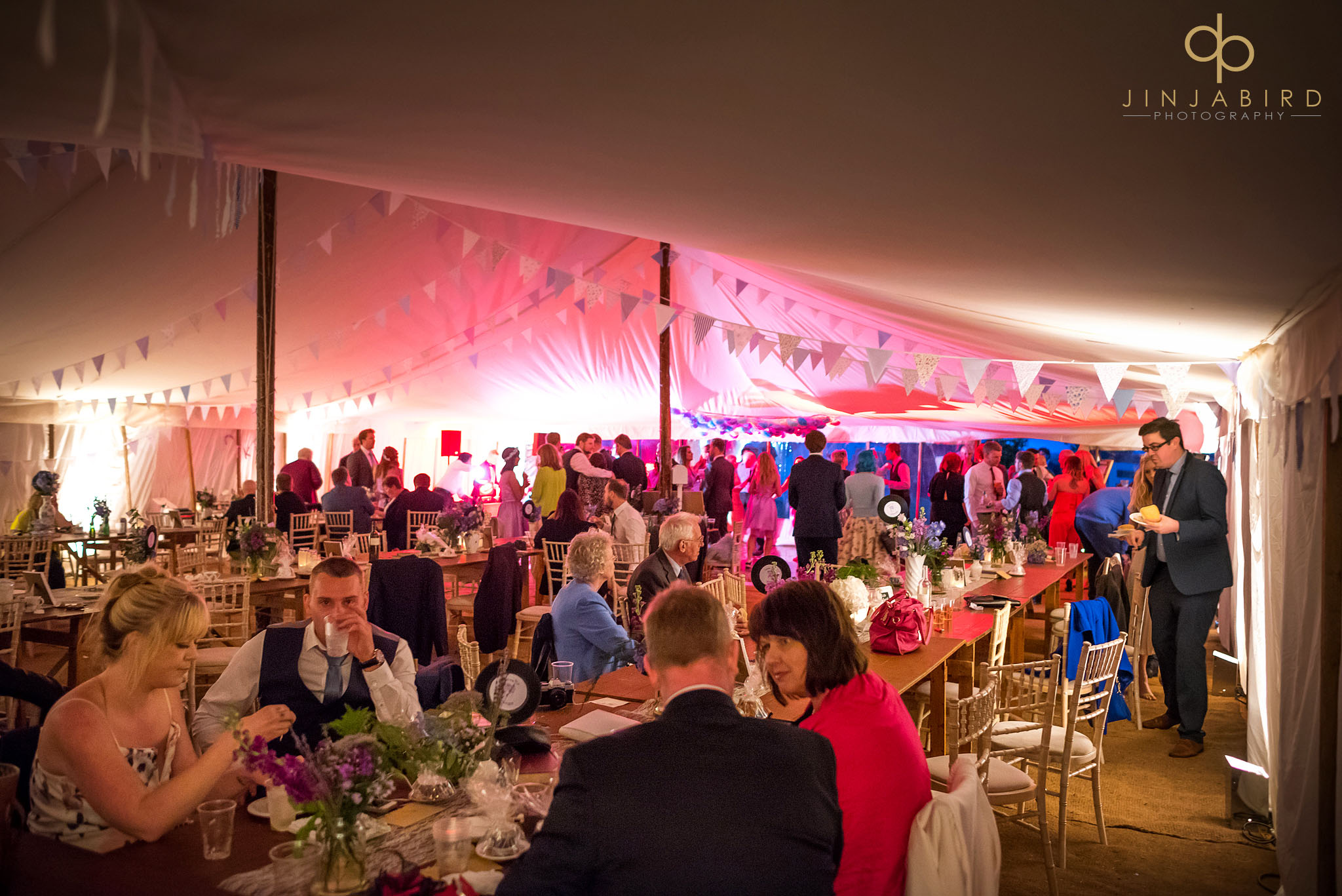 evening marquee wedding reception