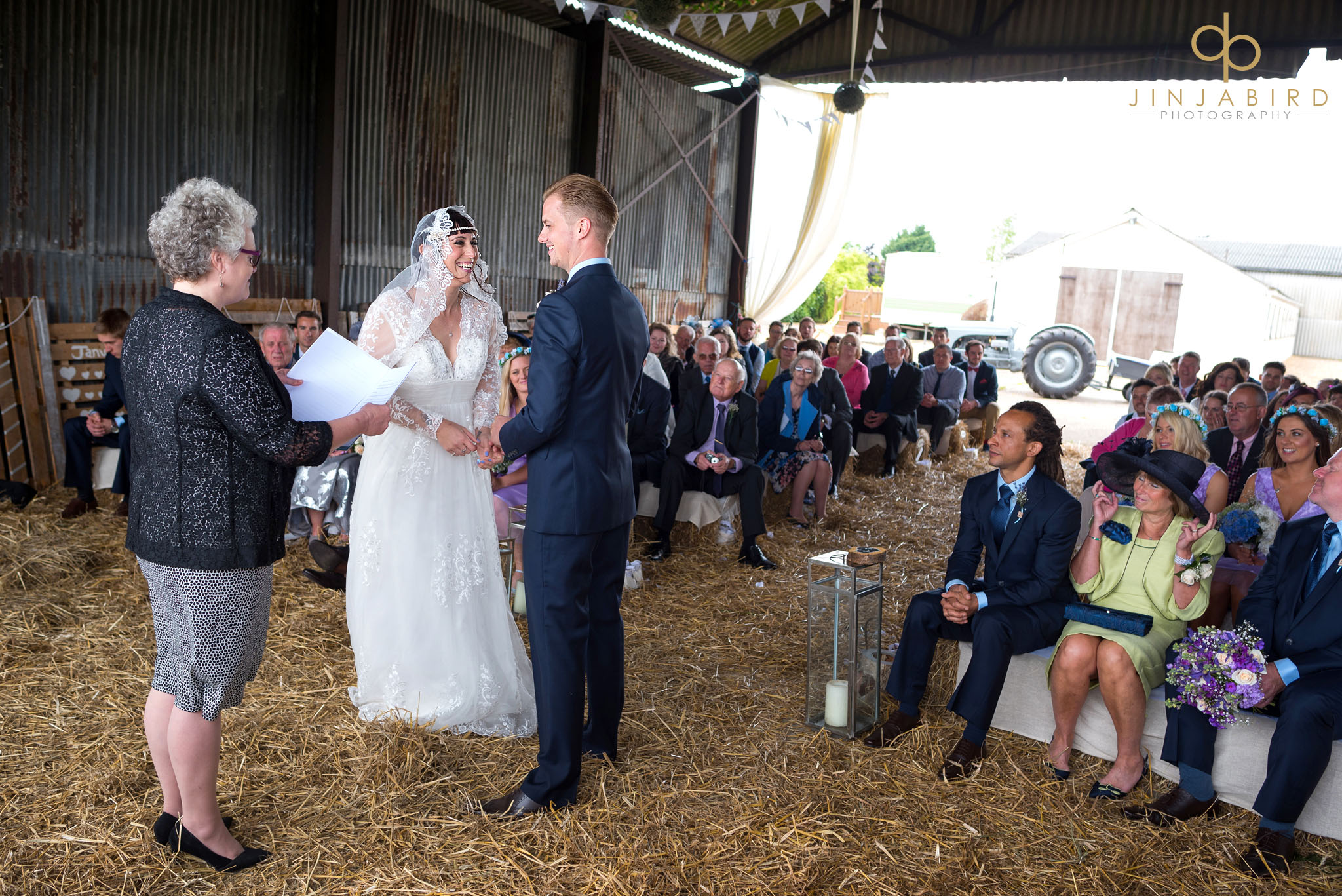 getting married in haybarn