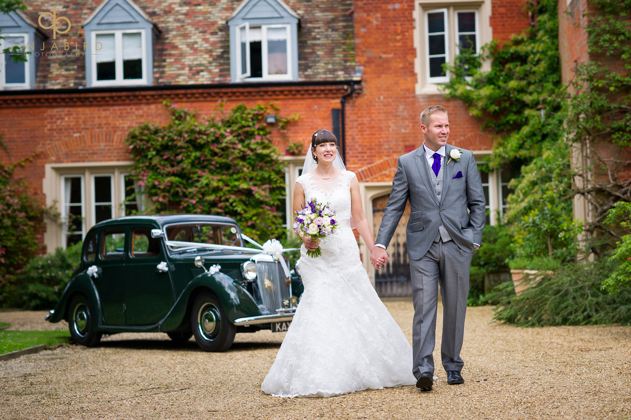 bride with groom childerley hall